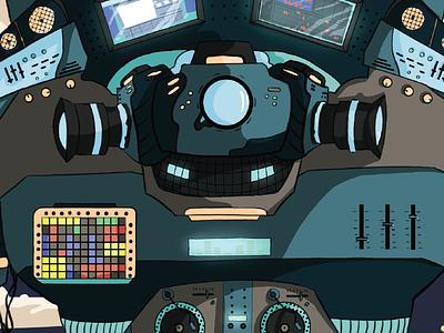 SJ Digital Arts Flyer digital arts music robot illustration graphic design