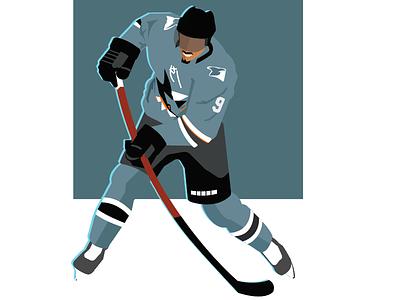 Hockey Vector Ilustration illustrator design illustration vector graphic design sharks nhl hockey