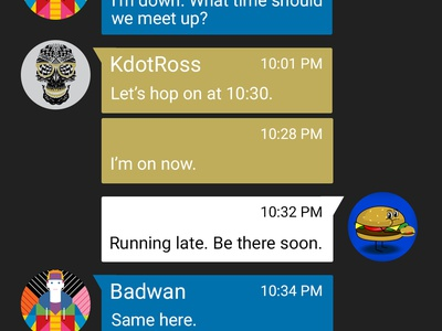 Party On-the-Go photoshop ui ux material design party chat xbox app material