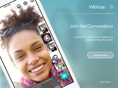 Daily UI 003 - Landing Page social app ios landing page daily ui