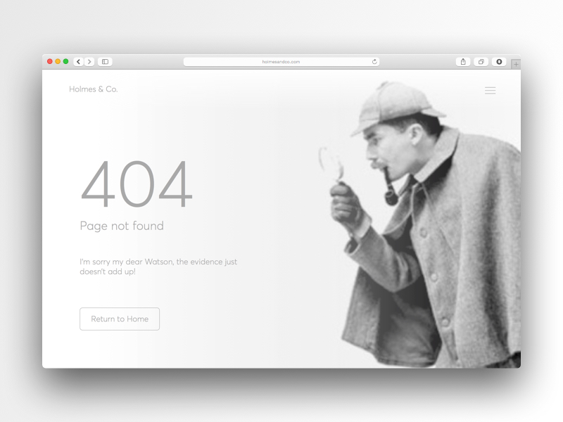 Daily UI 008 - 404 Page grayscale web 404 page daiily ui