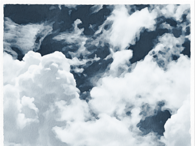 7 Watercolor Clouds - Textures