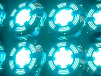Arc Reactor Grid iron man marvel array clones light emission octanerender 3dmodel 3d practice cinema 4d c4d