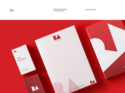 Branding for Rims Associate logo brand and identity brand agency book card design design graphics design branding