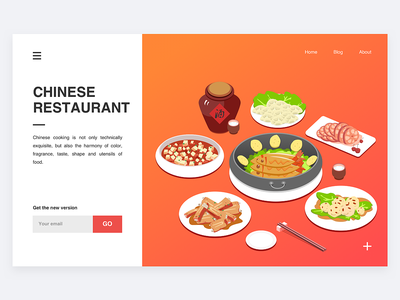 Chinese food - Illustration design illustration ui