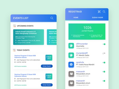 Dashboard Event/Exhibition App