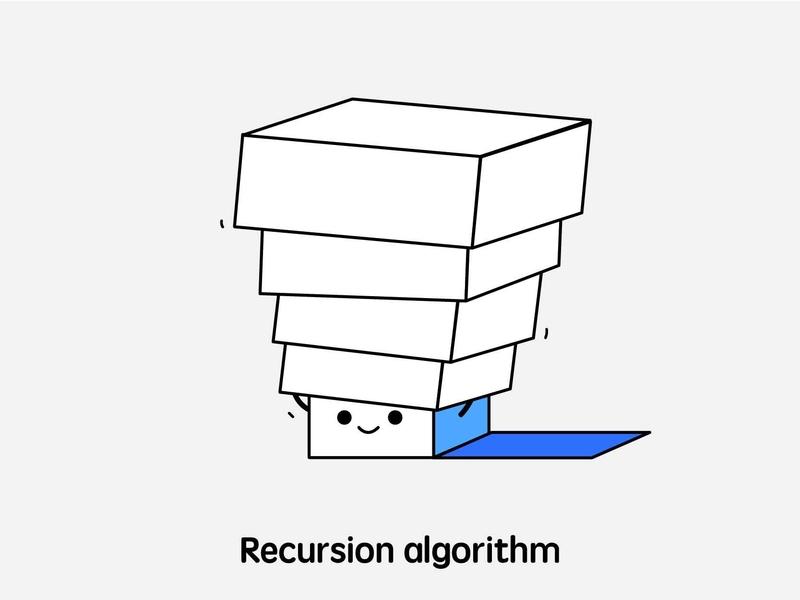 hidden in the box.. cartoon illustration