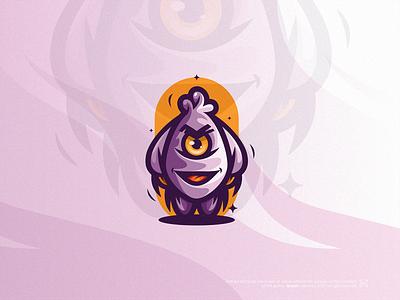 Smile Purple™ purple cutecharacter mascot smiley smilecharacter illustration modern symbol design simple icon mark logo