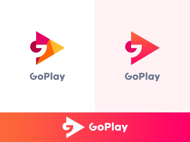 GoPlay start logograms music google dribbble icon minimalist clean clever play go button illustrator modern creative simple graphic design minimal logo