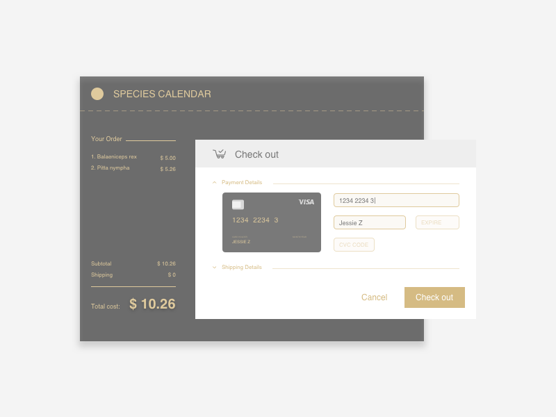 Daily UI #002 Credit Card Checkout checkout credit card daily ui ui ux