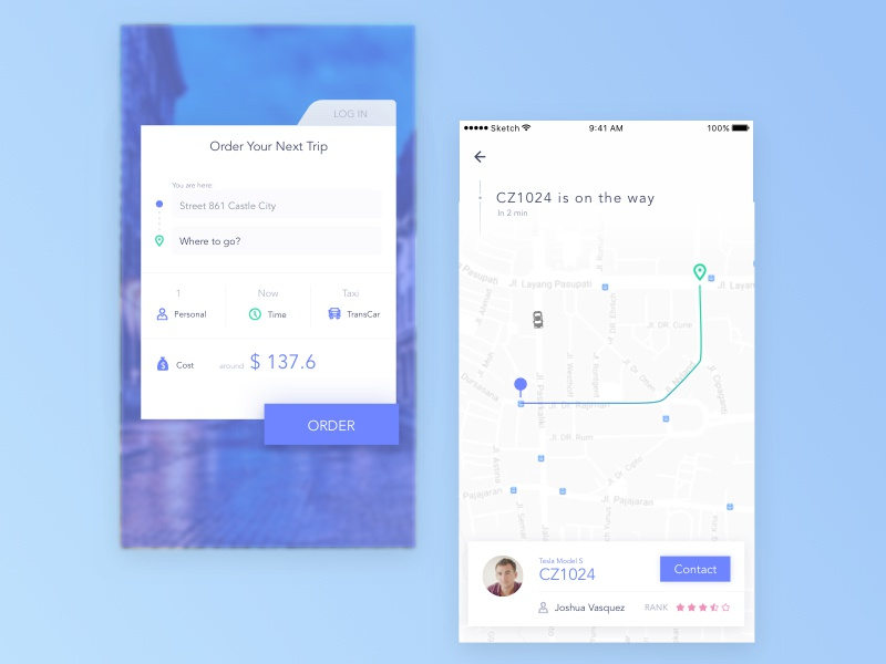 Daily UI #020 Location Tracker car taxi map tracker location daily ui ui ux