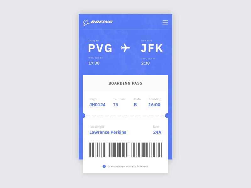 Daily UI #024 Boarding Pass flight boarding pass daily ui ui ux