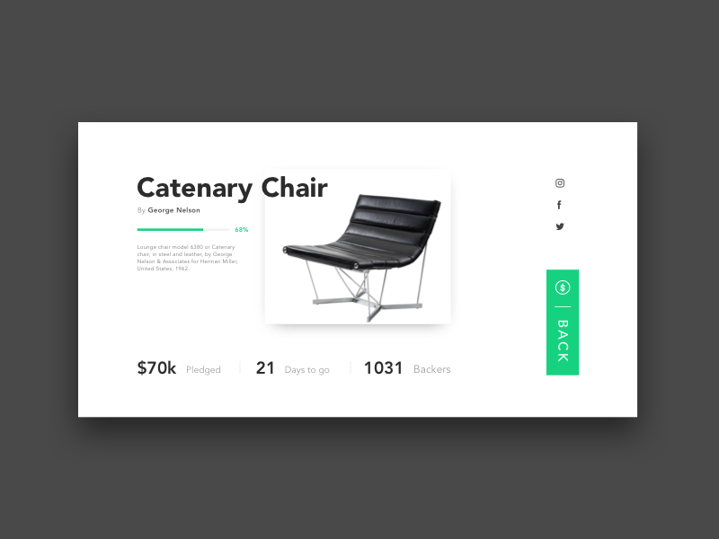 Daily UI #032 Crowdfunding Campaign campaign crowdfunding daily ui ui ux