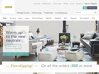 Furniture Ecommerce - Fresh & Crispy Concept crispy fresh online store furniture user interface design online shopping website design ux ui ecommerce