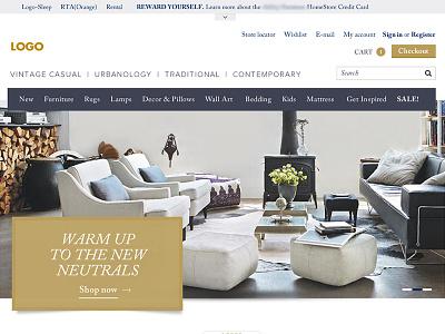Furniture Ecommerce - Elegant & Modern Concept online store furniture user interface design online shopping modern elegant website design ux ui ecommerce