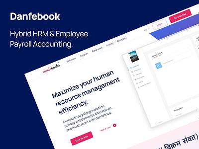 Working on website for  an online  HRM software web design app design ui