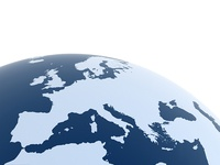 Free Europe map on globe