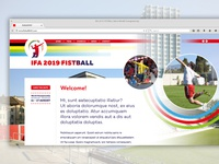 Fistball World Championship Webdesign