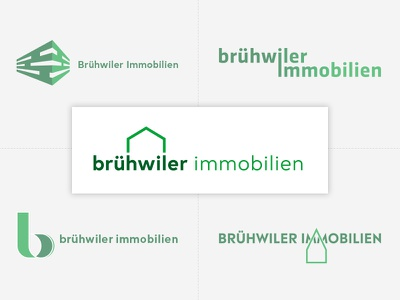 Logo concepts Brühwiler Immobilien logomark designagency designstudio customlogo brandingdesign branding logodesigns logo swissmade corporateidentity corporatedesign immobilienbewertung immobilien