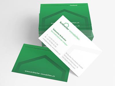 Business cards Brühwiler Immobilien stationery businesscards swissmade immobilienbewertung immobilien corporateidentity corporatedesign brandingdesign branding