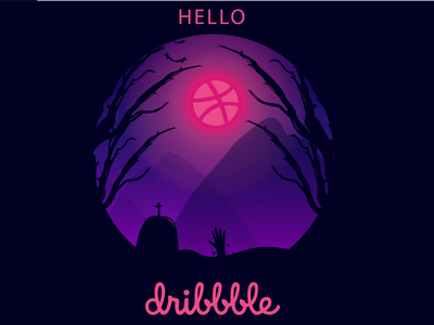 Helloween Dribbble ! adobe dribbble best shot halloween design animation icon vector design illustration illustator hello dribbble dribbble first shot halloween
