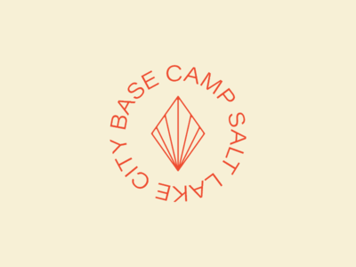 Base Camp 🏔️ freelance typesetting typography color scheme identity design branding salt lake city logo design brand identity creative space co op
