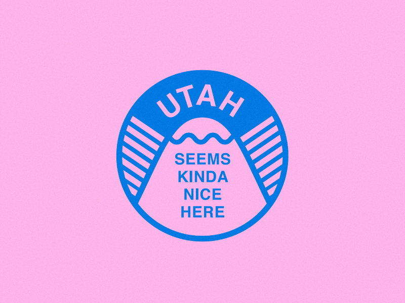 SEEMS NICE HERE logo design slc utah protect the planet branding illustration earth conscious sustainability environment sticker design stickers