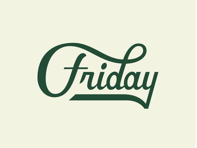 FRIDAY :) script typeface text friday scriptlettering script lettering design lettering typography hand drawn