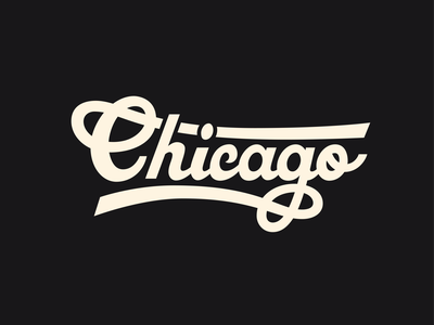 Chi-Town design type design chicago pizza logodesign typography logo typography art script script lettering vector typography illustration
