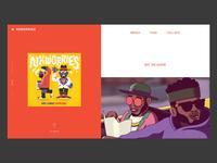 Album Release Web Concept
