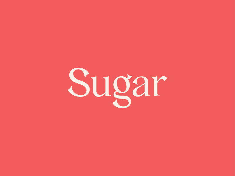Sugar Typeface lettering type design typeface type