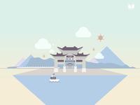 Yunnan kunming JinMaBiJi lane
