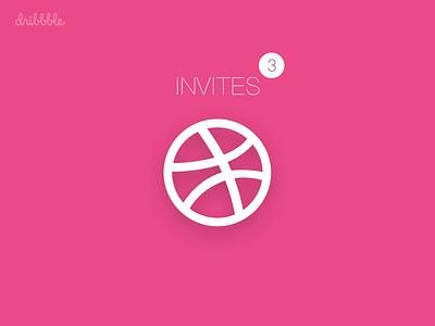 Dribbble Invitation x3 invite invitations dribbble design