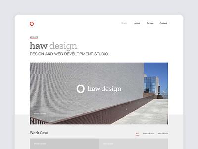 haw design web desgin ui
