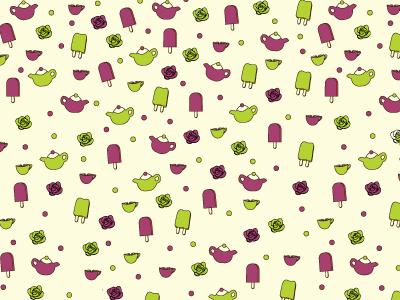 Kids Tutti Fruiti Tea Pattern