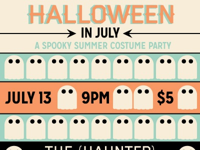 Halloween in July Poster