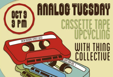 3030 Analog Tuesday Cassette Tape Upcycling Poster