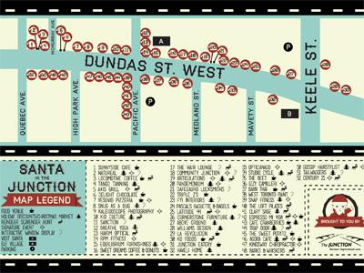 Santa in the Junction Postcard Map