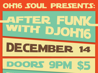 """""""OH16 Soul Presents"""" Poster"""