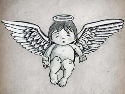angel sketch by larissa meek dribbble dribbble