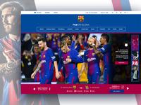 FC Barcelona | UI/Web Design