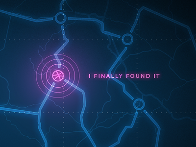 I finally found it hello debut map glow lines navigation finish way roads