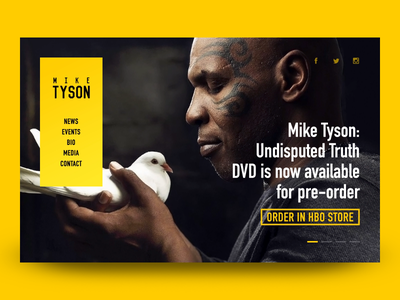 Mike Tyson - homepage mike tyson homepage clean news box animation slideshow yellow
