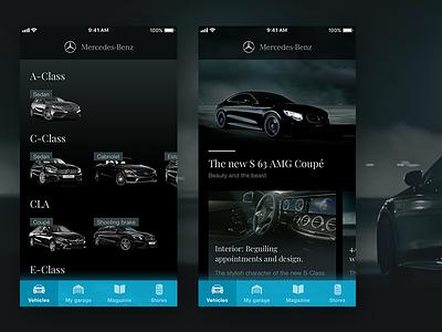 Mercedes App amg black ux concept benz cars car iphone app mercedes