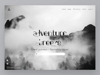 Old UI Design Animation: Adventure Breeze Parallax -Landing Page