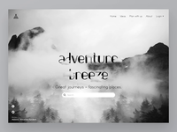 Old UI Design Animation: Adventure Breeze Parallax -Landing Page