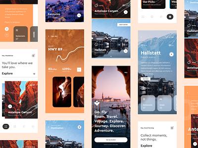 UI Design: Travel Guide App Concept concept design app popular design minimalism minimal travel app travel trending popular graphic sketch logo typography illustration designer vector ux app ui design