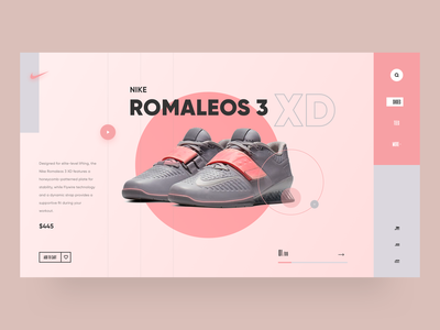 UI Design - Nike Shoes Web Concept typography concept web design website shoes nike illustration designer vector ux app ui design