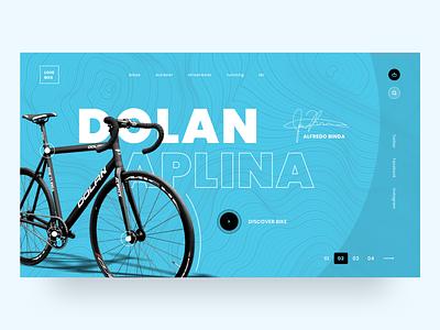 UI Design - Love Bike Web Concept bike bicycle sketch logo typography illustration designer vector ux app ui design