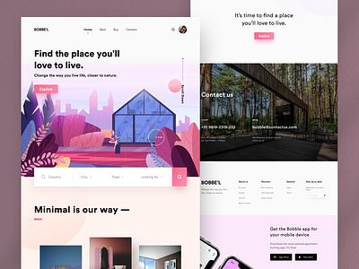 UI Design: BOBBE'L . Find the place where you love to live. webdesign website design website designer portfolio newshot sketch logo typography illustration designer vector ux app ui design